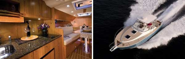 Photo of a Coastal Craft 30 Open interior and exterior