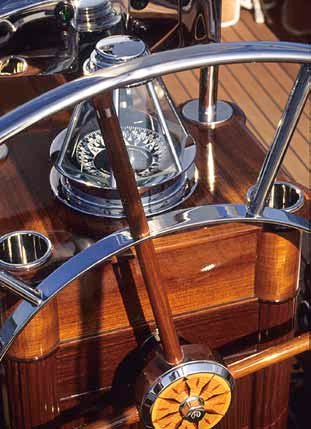 Photo of compass and boat wheel