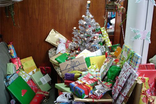 Photo of Christmas aboard Zora
