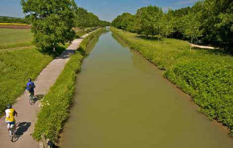 Photo of bike paths along the canal