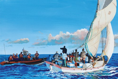 "Photo of painting ""30 Miles from Punta Gorda"" by Hugh O'Connor."