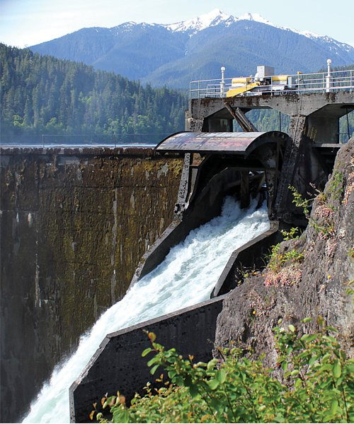 Photo of the Elwha River Dam