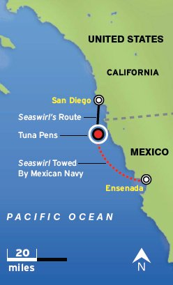 Map of west coast of US and Mexico