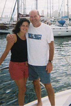 Ann and Ed docked in Cartagena, Columbia