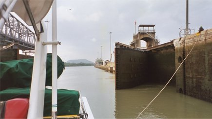 Miraflores Lock in the Panama Canal
