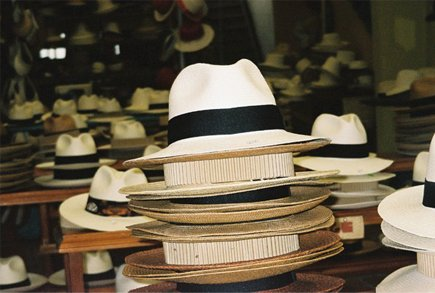 The famous Panama Hat actually comes from Ecuador