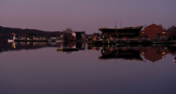 Photo of Mystic Seaport at night