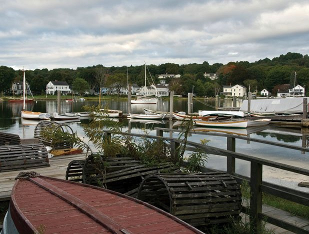 Photo of the dock at Mystic Seaport