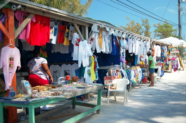 Photo of Bimini's straw market