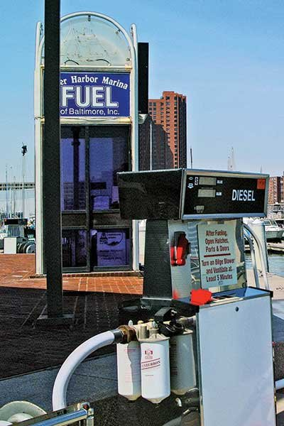 Thumbnail photo of a diesel gas pump
