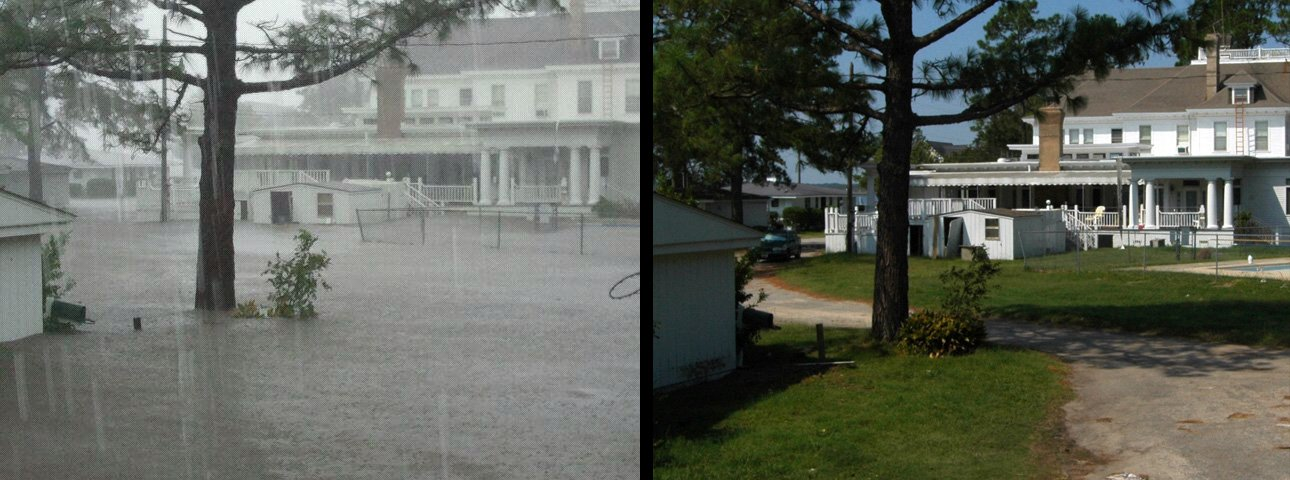 Photo of River Forest Marina Manor house is back to normal after severe flooding during Hurricane Irene