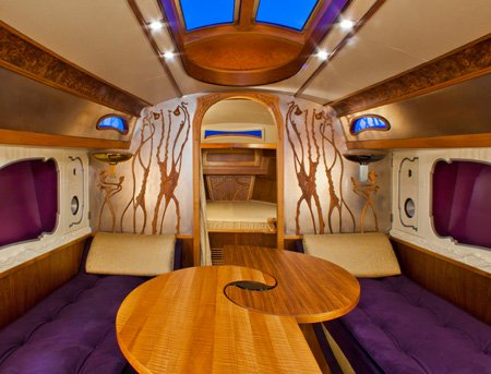Photo of interior of the 42-foot motor yacht, Lionheart's Concerto
