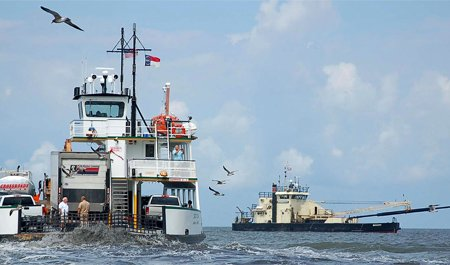 Photo of dredging North Carolina inlet