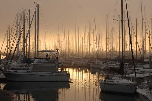 Photo of sunrise at Shuler Marina in San Diego