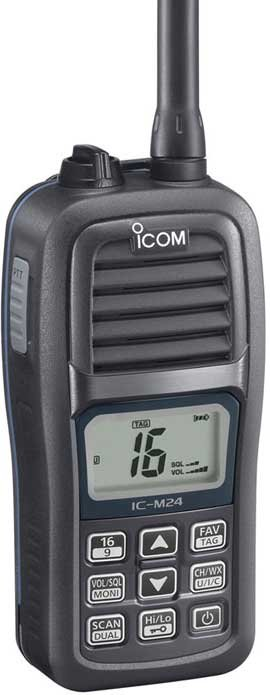 Photo of the ICOM M24 (Float n' Flash) Marine VHF