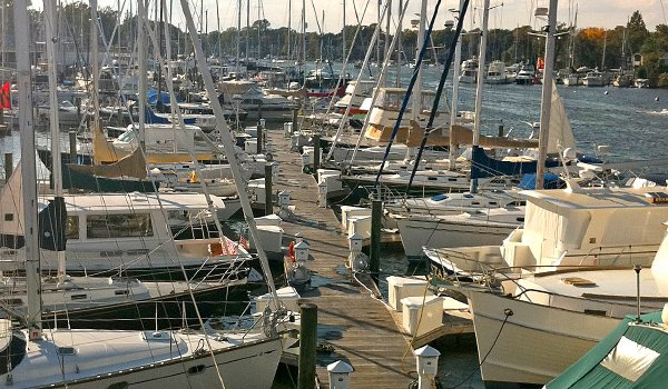 Photo of a marina