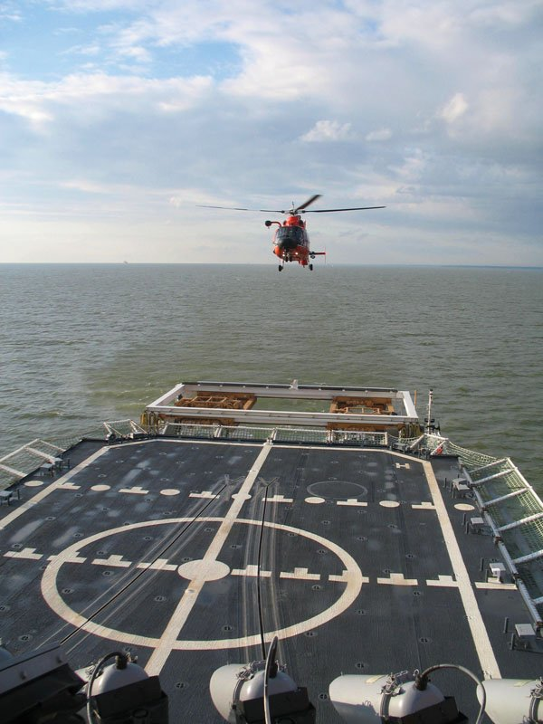 Photo of a U.S. Coast Guard HH-65C Dauphin helicopter