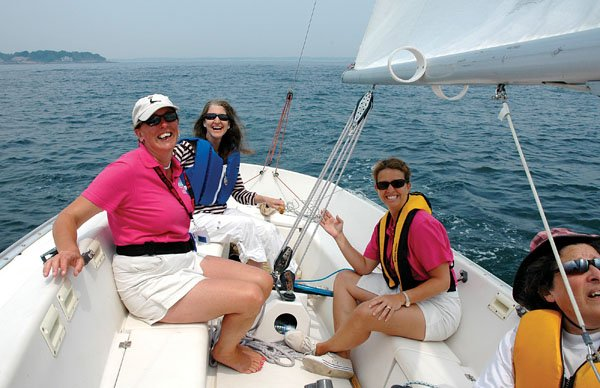 Photo of women sailing