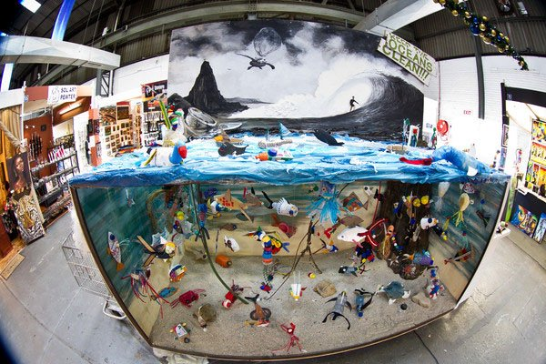 Photo of art made from marine debris
