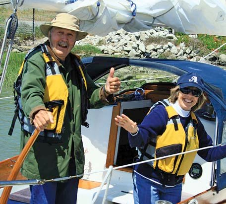 Photo of San Jose Sailing Club (SJSC) members Armand and Mary Stephens
