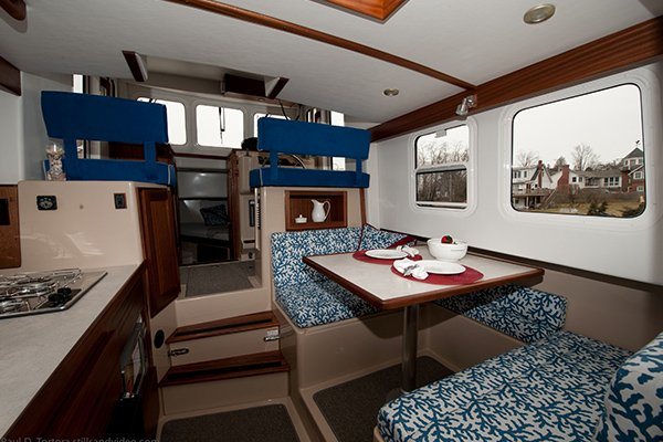 Photo of the interior of a Nordic Tug 26