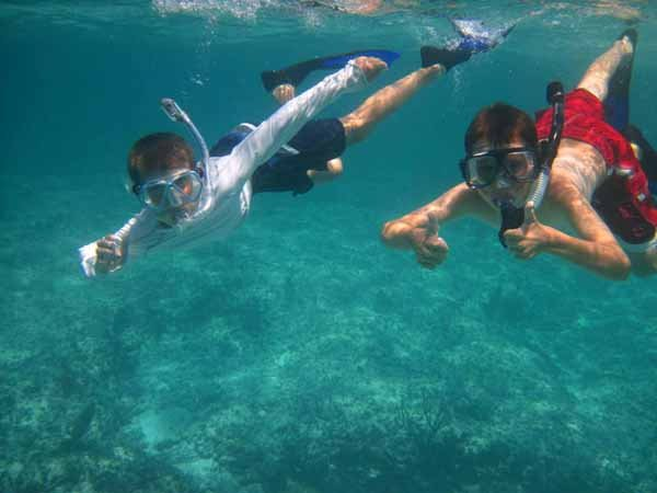 Photo of snorkelling in the Bahamas