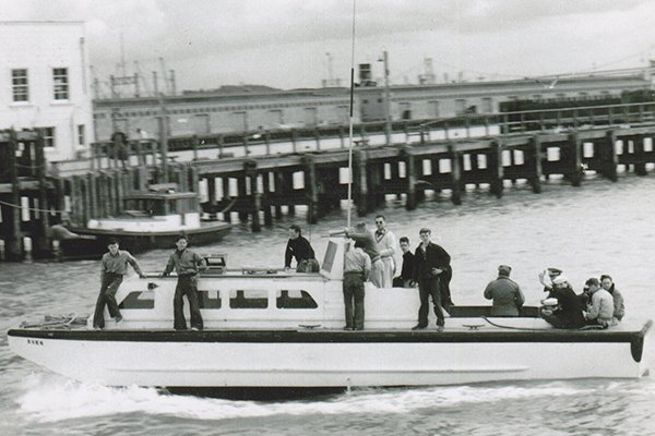 Photo of Sea Scouts aboard their boat