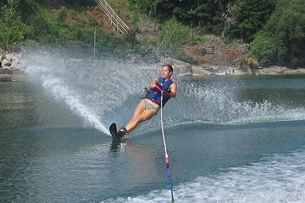 Photo of a waterskier