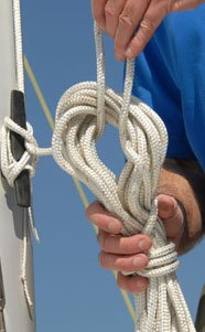 Photo of coiling a line