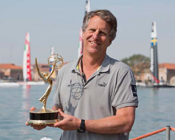 Photo of Stan Honey with his Emmy Award