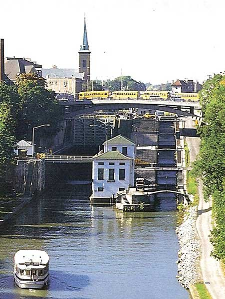 Photo of the locks at Lockport, New York, how they look today