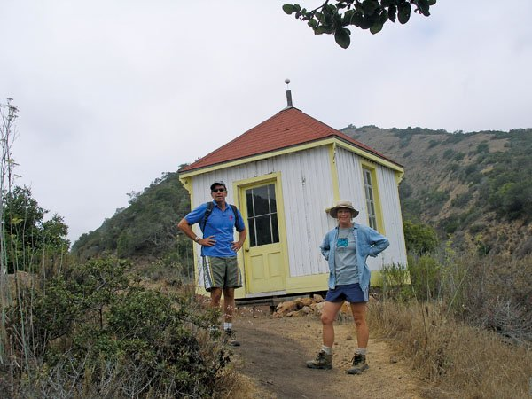 Photo of hiking at Prisoners Harbor on Santa Cruz Island