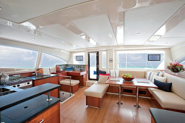 Photo of a Leopard 48 catamaran interior