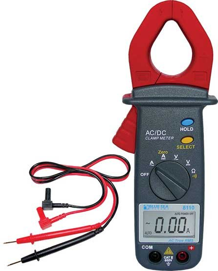 Photo of a Blue Sea Systems' Mini Clamp Multimeter With True RMS