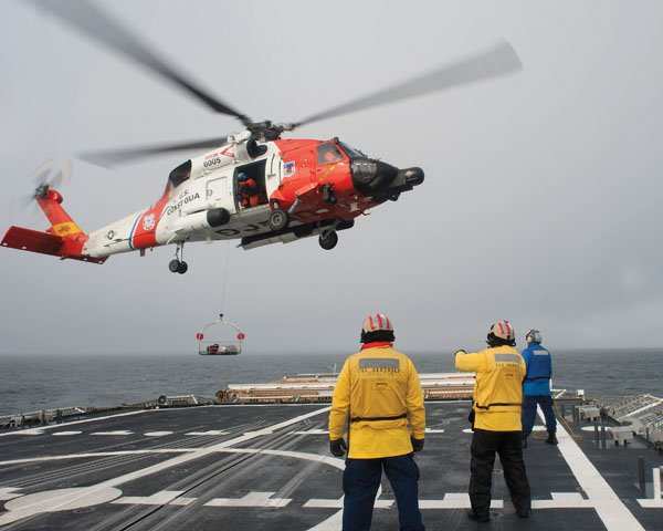 Photo of U.S. Coast Guard rescue helicopter