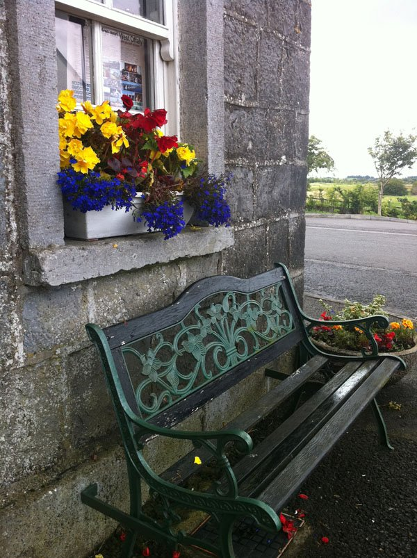 Photo of window flowerbox and bench