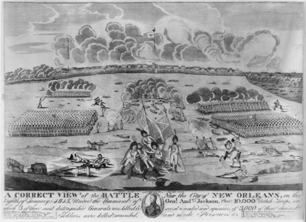 Engraving of the Battle of New Orleans