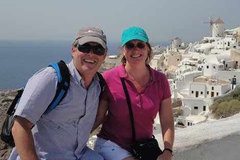 Photo of Scott and April in Santorini, Greece