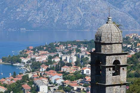 Photo of Kotor, Montengro, Church spire by Rob Patriquin
