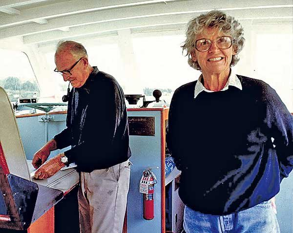 Photo of James and Grace Kleiser aboard Respite