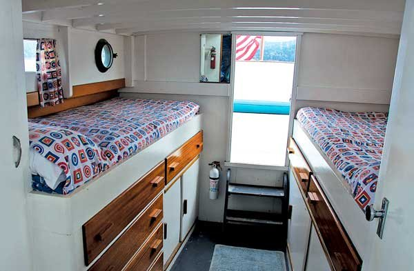 Photo of the Respite aft cabin