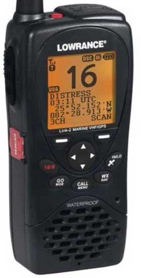 Photo of the Lowrance DSC VHF Radio