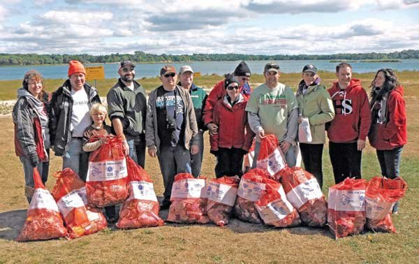 "Photo of A ""1 Million Stewards"" cleanup crew event at White Bear Lake, Minnesota"