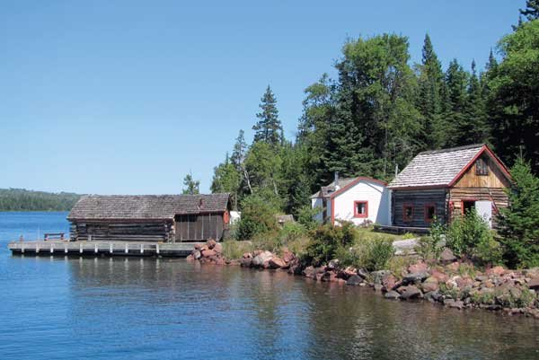 Photo of the restored Edison family fishery on Isle Royale