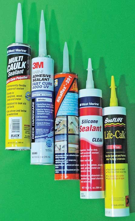 Photo of various brands of sealant