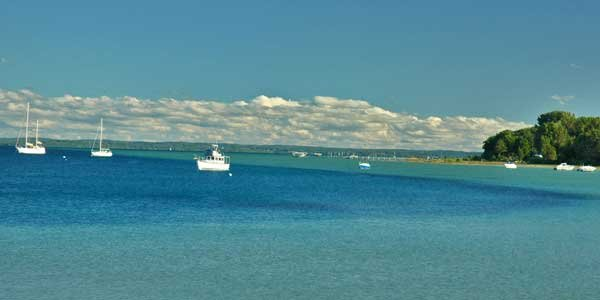 Photo of a boats on Traverse Bay