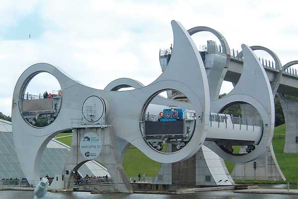 Photo of the Falkirk Wheel, in Scotland