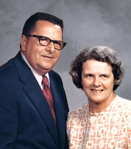 Photo of author's parents