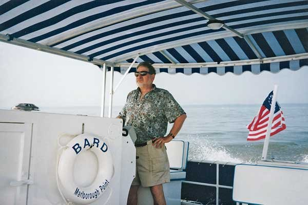 Photo of Richard Schwartz on his boat