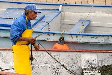 Photo of a fishman in Ensenada